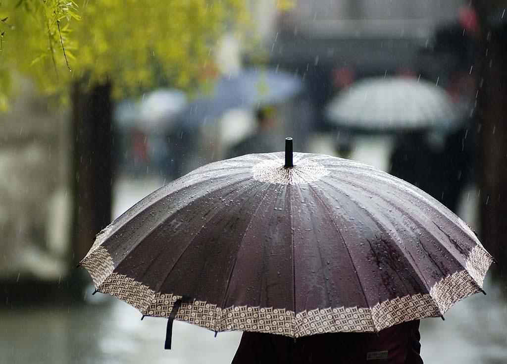 Chinese woman umbrella
