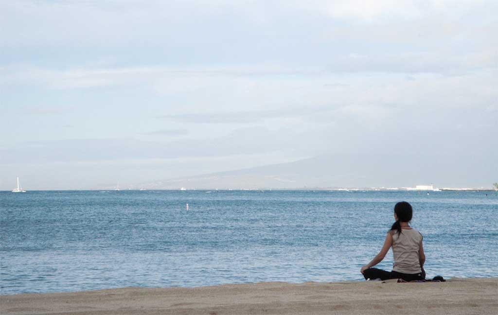 hawaiian girl on beach