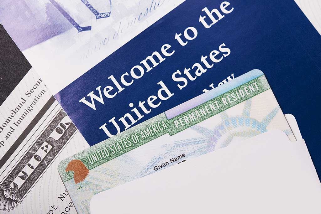 US passport and green card